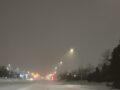 지난밤 눈 내린 도로